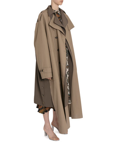 Convertible Double-Layered Trench Coat