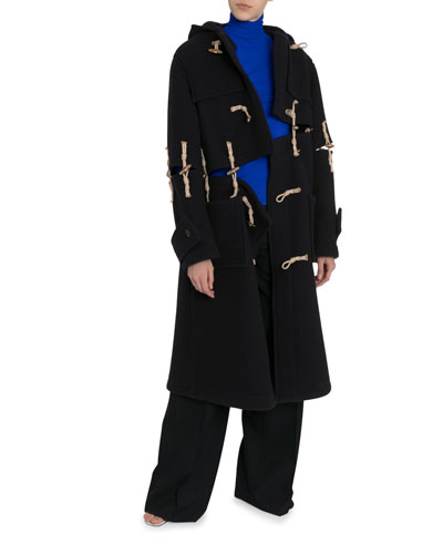 Deconstructed Wool Oversized Duffle Coat
