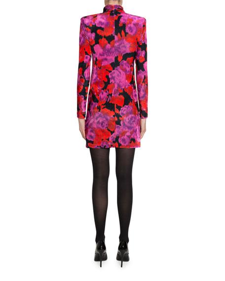 Twisted Velour Mini Dress