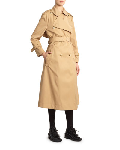 Classic Double-Breasted Trench Coat