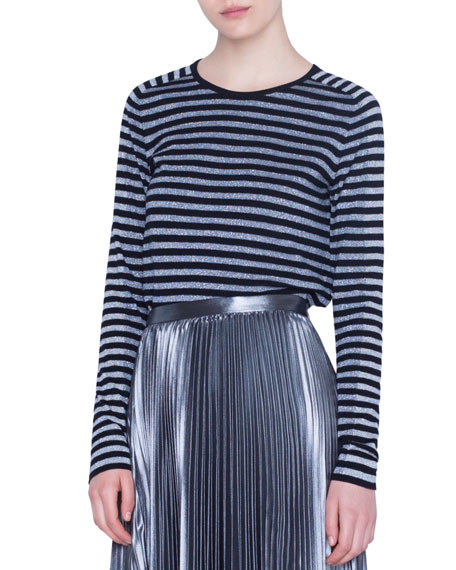 Shimmer Striped Sweater