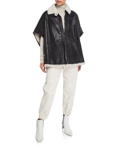 Cotton Gabardine Belted Pants