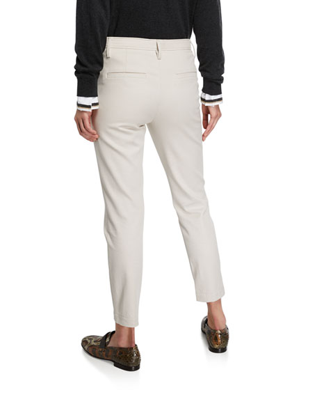 Stretch-Cotton Monili-Beaded Pants