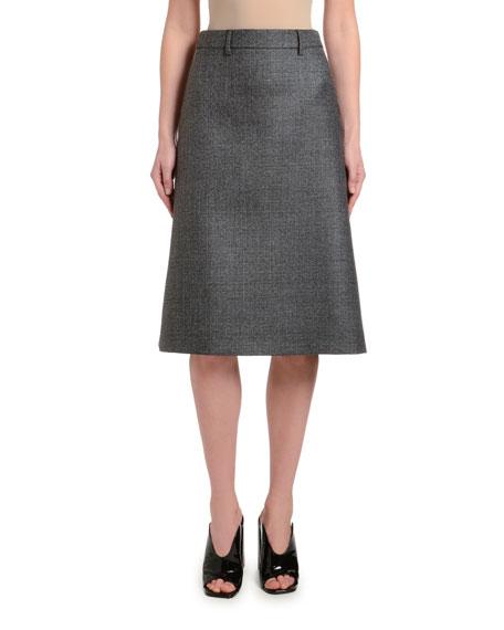 Plaid A-Line Knee-Length Skirt