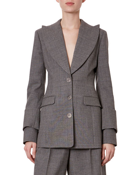Image 1 of 1: Fitted 3-Button Blazer