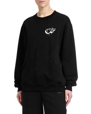 Off-White Graffiti Graphic Crewneck Sweatshirt