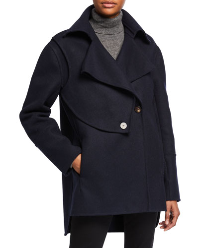 Button-Front Long Jacket