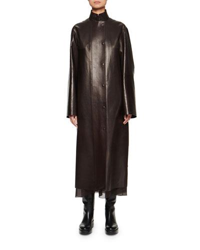Emely Leather Car Coat