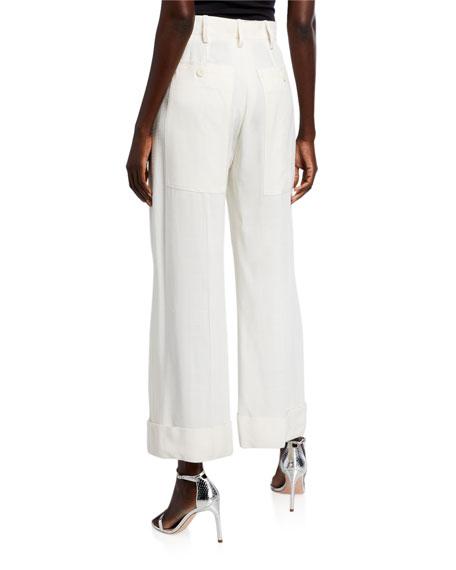 Carini High-Rise Wide-Leg Pants