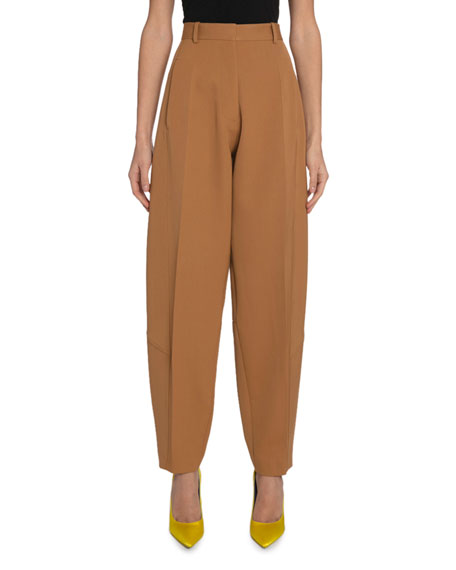 Wool High-Rise Tapered Trousers