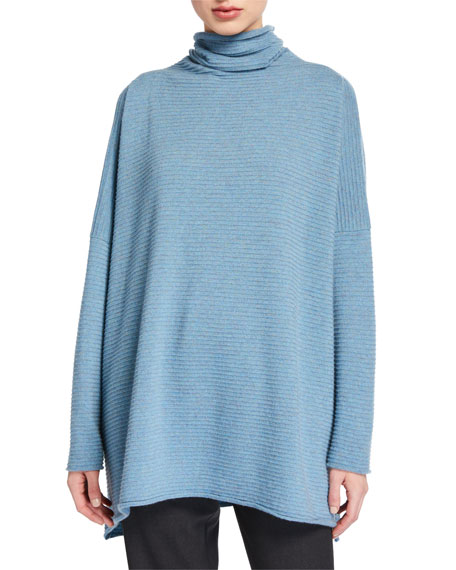 Cashmere Funnel Neck Sweater