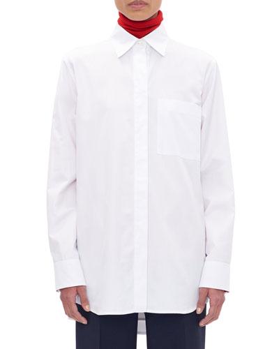 Cotton Asymmetric Back Shirt