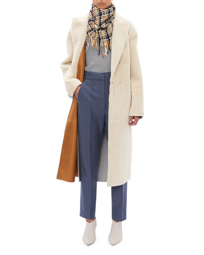 Lambskin Shearling and Leather Reversible Coat