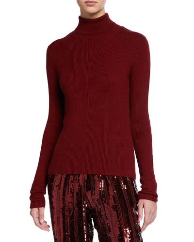 Cashmere Silk Lightweight Turtleneck Sweater