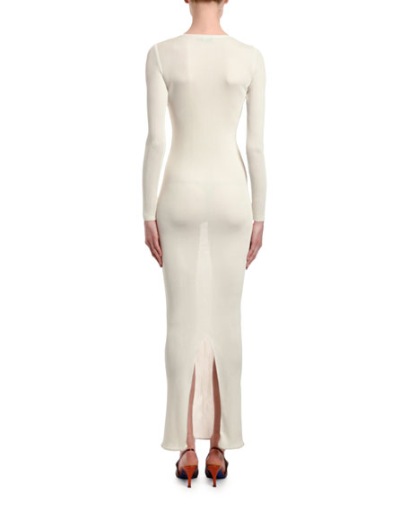 Ribbed Sweater Dress with Removable Cashmere Smock