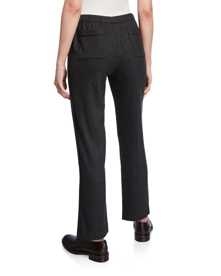 Davin Cashmere Flannel Pull-On Pants