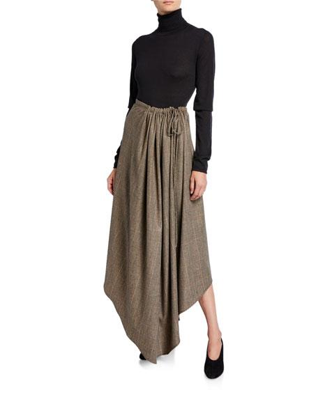 Glen Check Asymmetric Skirt