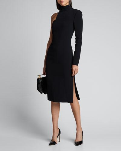 Asymmetric One-Sleeve Bodycon Dress