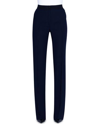 Elastic-Waist Flared Pants