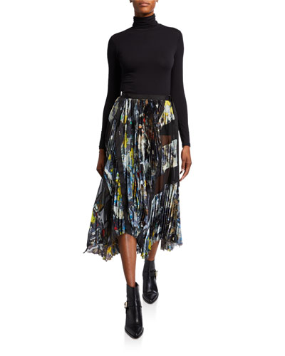 Splatter-Paint Wrap Skirt