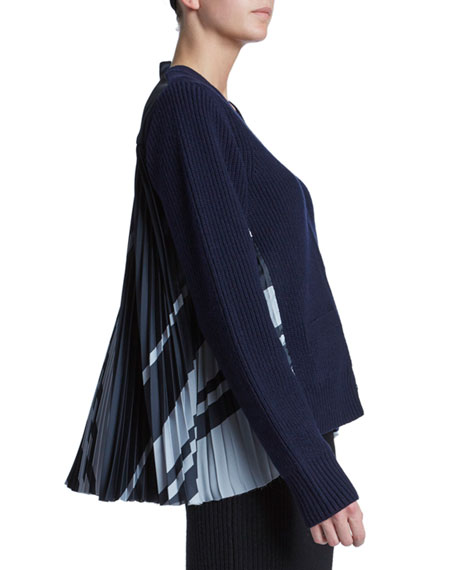 Solid Front Blanket-Back Cardigan