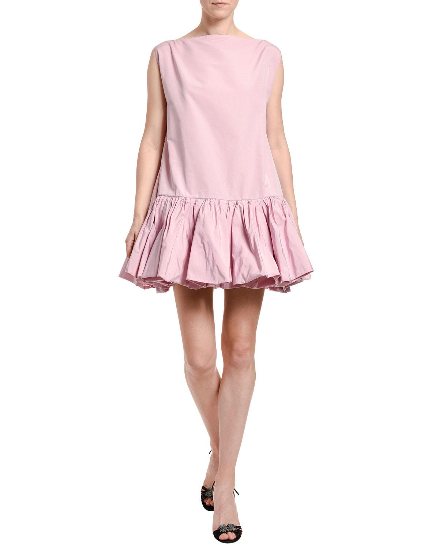 Valentino Dresses DROP-WAIST POPLIN SHIFT DRESS