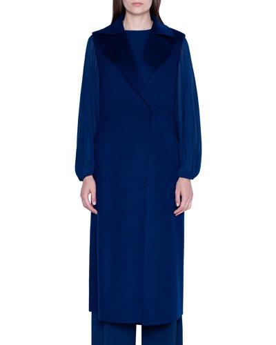 Cashmere Double-Face Longline Vest