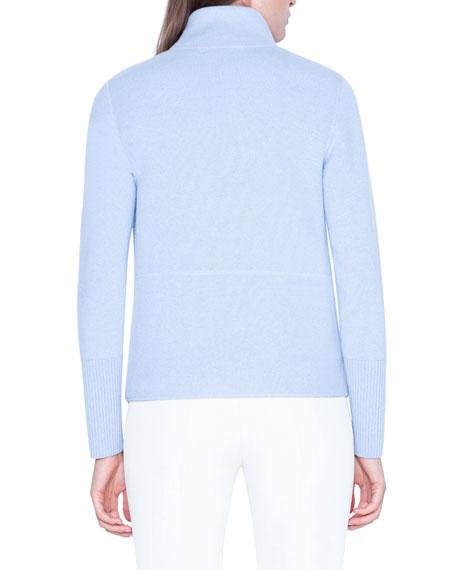 Cashmere Zip-Front Sweater Jacket
