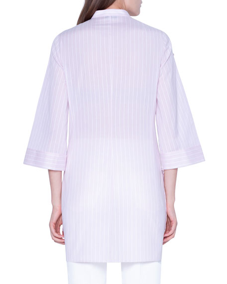 Striped Wide 3/4-Sleeve Tunic
