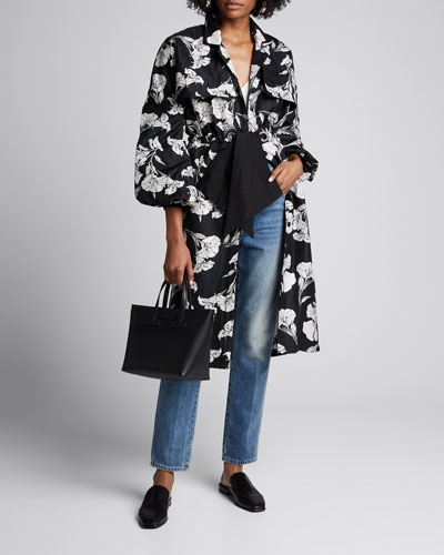 Nature Morte Floral Trench Coat