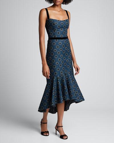 Rito Ancestral Ruffled-Hem Dress