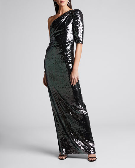 Liquid Draped Sequin Gown
