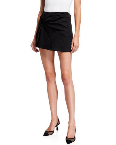 Vortex Embroidered Mini Skirt