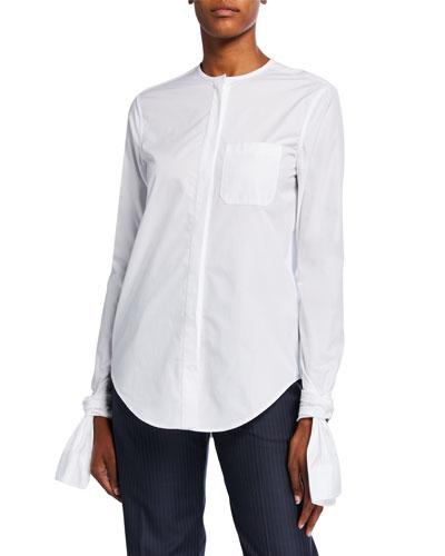 Knotted-Cuff Shirt