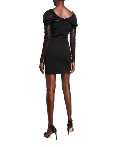 Off-the-Shoulder Sequined Mini Dress