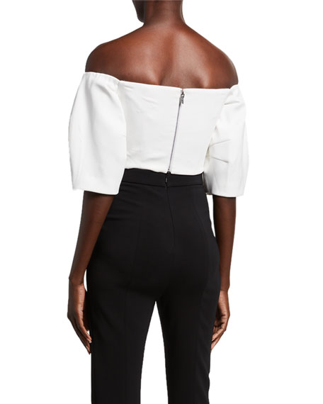 Cady Off-the-Shoulder Crop Top