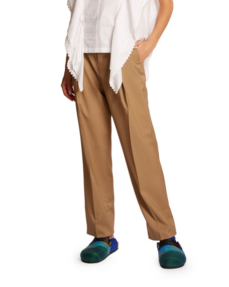 Belted Wool Trousers