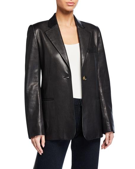 Vera Leather Blazer