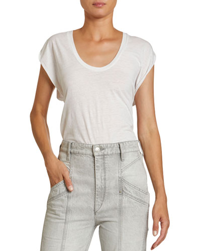 Scoop-Neck Cotton Top