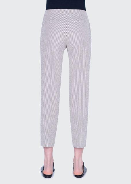 Frankie Seersucker Cotton Pants