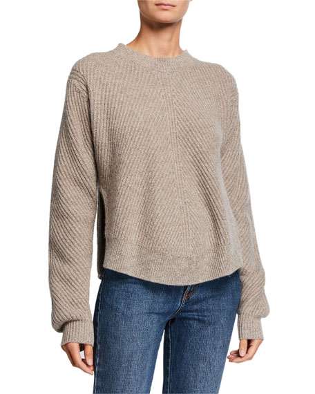 Cashmere Chevron Ribbed Sweater