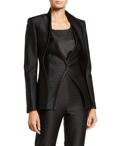 Wave-Seam Double-Layer Jacket