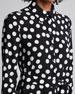 Polka-Dot Tie-Waist Shirtdress