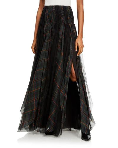 Arlington Plaid Organza Skirt