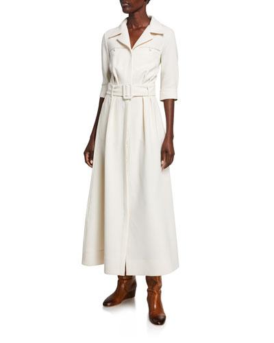 Simone Double-Face Crepe Dress