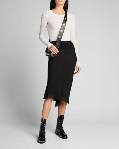Georgette Midi Skirt
