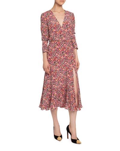 Silk V-Neck Dress