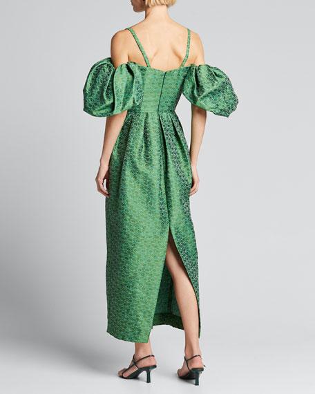 Brocade Off-the-Shoulder Dress