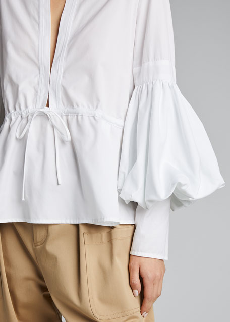 Flared Poplin Swing Top