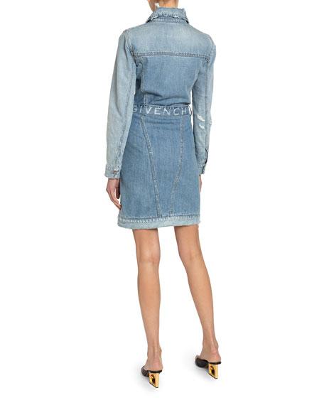 Washed Denim Belted Shirtdress